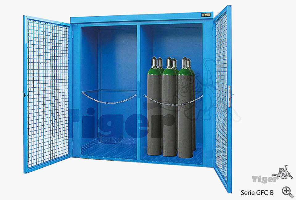 containerschrank gasflaschenschrank gasflaschen nach trgs 510 lagern tiger umweltlagertechnik. Black Bedroom Furniture Sets. Home Design Ideas